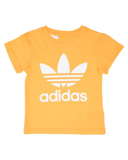 GOLD WHITE KIDS GIRLS ADIDAS TOPS - ED7741GLDWT