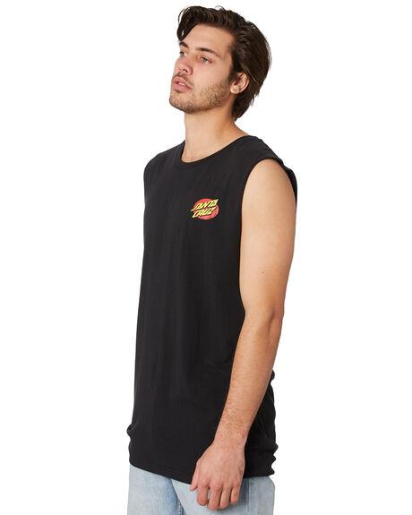 BLACK MENS CLOTHING SANTA CRUZ SINGLETS - SC-MTC9247BLK