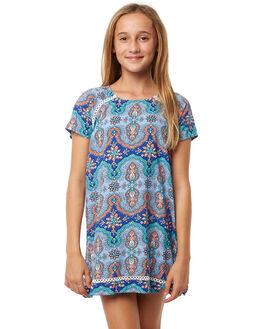 LIGHT BLUE KIDS GIRLS RIP CURL DRESSES - JDRAZ11080