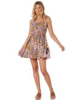 LEOPARD WOMENS CLOTHING TIGERLILY DRESSES - T305442LEO