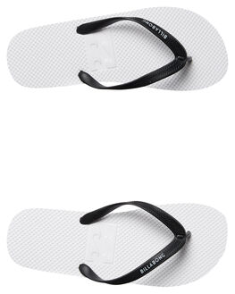 WHITE MENS FOOTWEAR BILLABONG THONGS - 9671934WHT