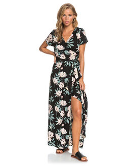 ANTHRACITE TROPIC WOMENS CLOTHING ROXY DRESSES - ERJWD03446-XKMW