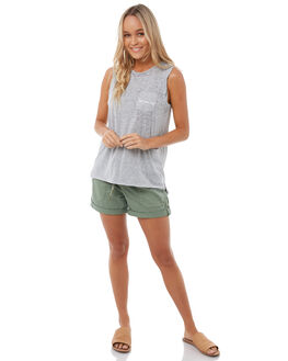 HERITAGE HEATHER WOMENS CLOTHING ROXY SINGLETS - ERJZT04157SGRH