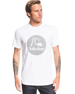 WHITE MENS CLOTHING QUIKSILVER TEES - EQYZT05677-WBB0