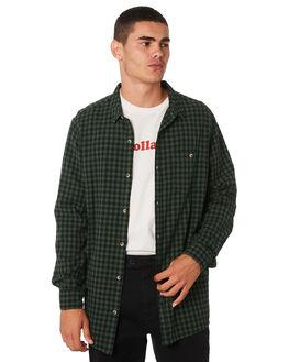 TRADE GREEN CHECK MENS CLOTHING ROLLAS SHIRTS - 154764130