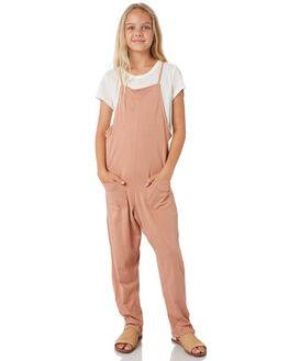 MOCHA KIDS GIRLS FEATHER DRUM DRESSES + PLAYSUITS - FD52MCH