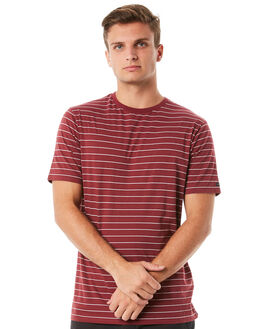 MAROON MENS CLOTHING RIP CURL TEES - CTELP29532