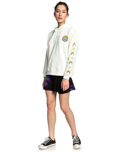 LILY WHITE WOMENS CLOTHING QUIKSILVER JUMPERS - EQWFT03022-WCQ0