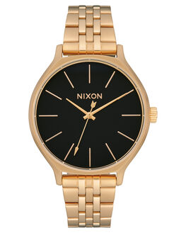 GOLD BLACK WOMENS ACCESSORIES NIXON WATCHES - A1249-513