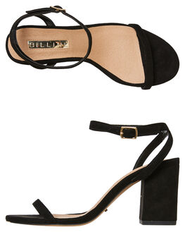 BLACK SUEDE WOMENS FOOTWEAR BILLINI HEELS - H1318BSDE