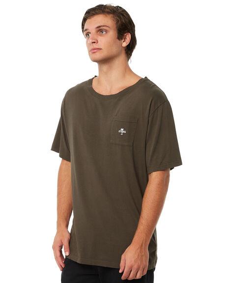 DARK OLIVE MENS CLOTHING THRILLS TEES - TA8-144FDOLI
