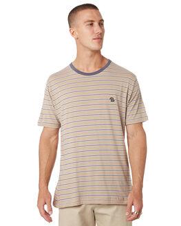 BEIGE STRIPE MENS CLOTHING BARNEY COOLS TEES - 101-CC1BEIGE