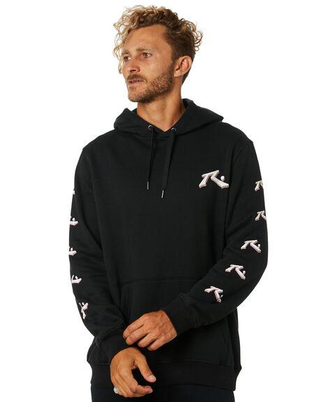BLACK MENS CLOTHING RUSTY JUMPERS - FTM0876BLK