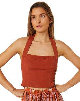 PAPRIKA OUTLET WOMENS TIGERLILY FASHION TOPS - T395049PAP