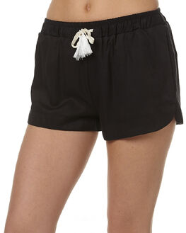 BLACK WOMENS CLOTHING ALL ABOUT EVE SHORTS - 6481025BLK