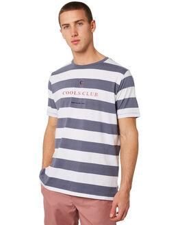 NAVY STRIPE MENS CLOTHING BARNEY COOLS TEES - 113-CR3NSTRP