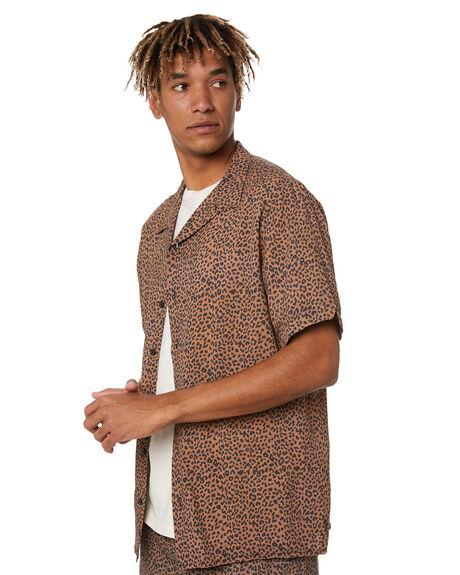 MUSTANG BROWN MENS CLOTHING THRILLS SHIRTS - TR20-204CMBR