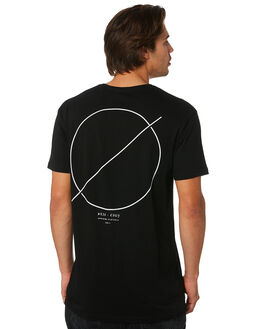 BLACK MENS CLOTHING SILENT THEORY TEES - 4022162BLK