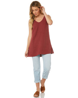 BURGUNDY WOMENS CLOTHING WILDE WILLOW FASHION TOPS - K345BUR