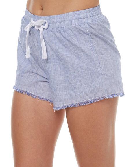 BLUE WOMENS CLOTHING ELWOOD SHORTS - W73613123
