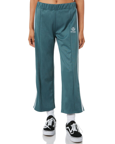 DARK TEAL WOMENS CLOTHING STUSSY PANTS - ST195618TEAL