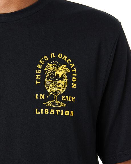 BLACK MENS CLOTHING VOLCOM TEES - A5001978BLK