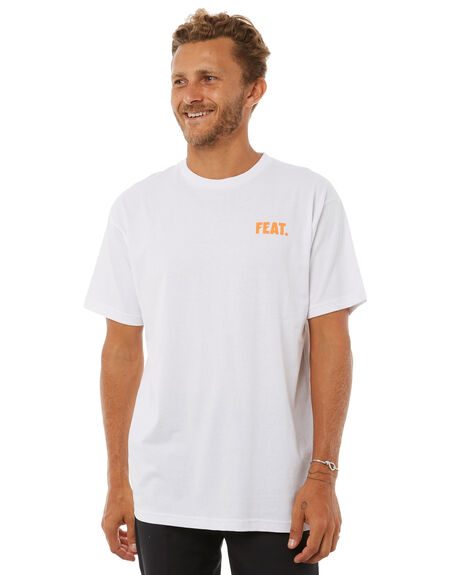 WHITE MENS CLOTHING FEAT TEES - FTTSMOO01WHT