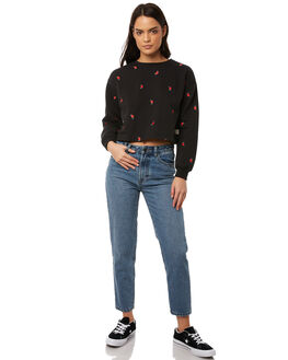 BLACK WOMENS CLOTHING ALL ABOUT EVE JUMPERS - 6413048BLK