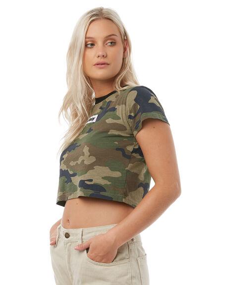 CAMO WOMENS CLOTHING STUSSY TEES - ST185105CAMO