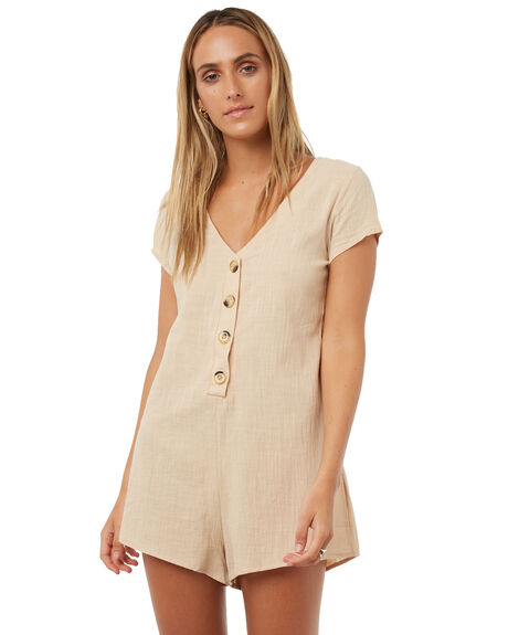 BEIGE WOMENS CLOTHING REVERSE PLAYSUITS + OVERALLS - 4010-1BEI