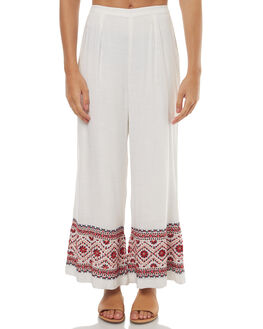 WHITE WOMENS CLOTHING TIGERLILY PANTS - T371373WHT