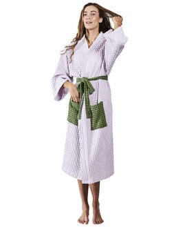 PASTEL LILAC WAFFLE WOMENS ACCESSORIES KIP AND CO HOME + BODY - SS191309LILAC