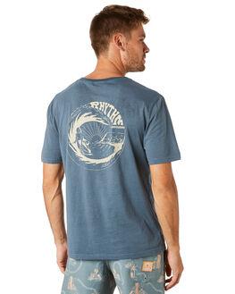 CLASSIC BLUE MENS CLOTHING RHYTHM TEES - NOV18M-SS04BLU