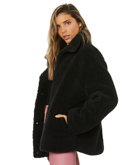 BLACK WOMENS CLOTHING THE UPSIDE JACKETS - USW221108BLK
