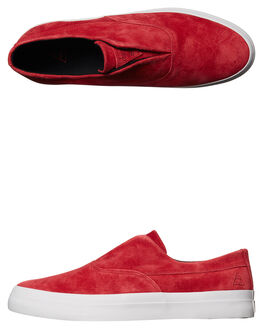 DEEP RED MENS FOOTWEAR HUF SLIP ONS - VC00009DRED