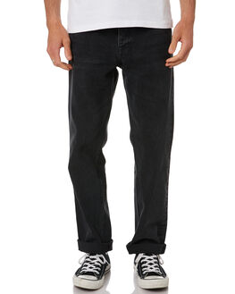 NIGHT WORKERS BLACK MENS CLOTHING DR DENIM JEANS - 2010110B65NWBLK