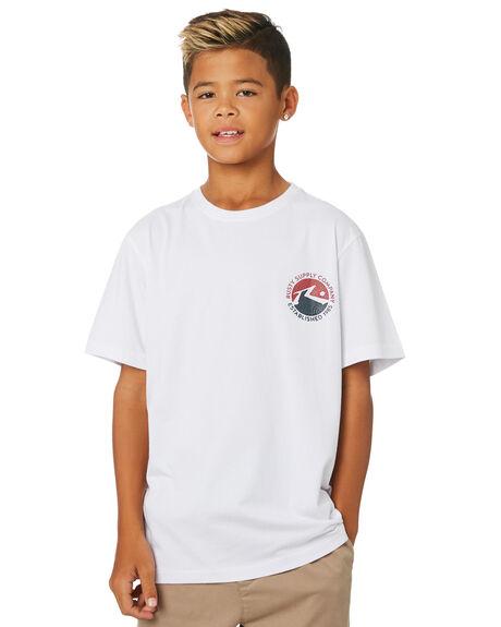 WHITE KIDS BOYS RUSTY TOPS - TTB0645WHT