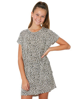 LEOPARD KIDS GIRLS SWELL DRESSES + PLAYSUITS - S6201441LEPRD