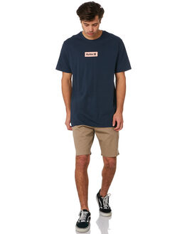 NAVY PINK MENS CLOTHING HURLEY TEES - AJ1777434