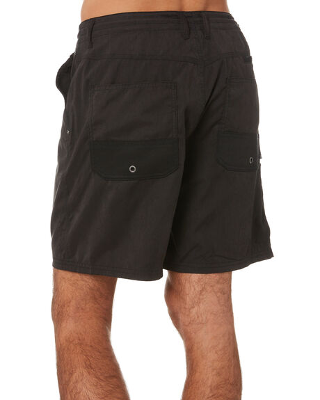 BLACK MENS CLOTHING RUSTY SHORTS - WKM454BLK