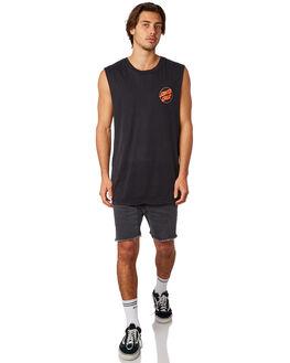 BLACK MENS CLOTHING SANTA CRUZ SINGLETS - SC-MTD8029BLK