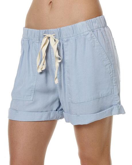 MIST BLUE WOMENS CLOTHING RUSTY SHORTS - WKL0618MSE