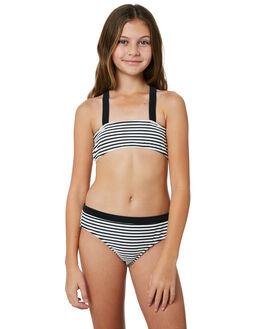BLACK WHITE KIDS GIRLS SEAFOLLY SWIMWEAR - 27043BKWHT