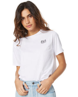 WHITE WOMENS CLOTHING RVCA TEES - R271686WHT