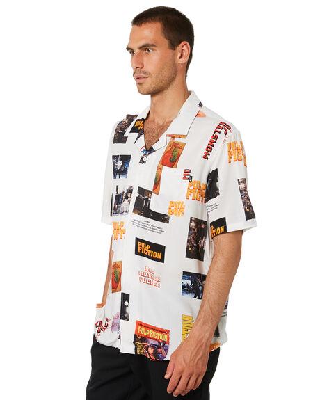 WHITE MENS CLOTHING HUF SHIRTS - BU00090-WHT
