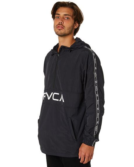 BLACK MENS CLOTHING RVCA JACKETS - R393439BLK