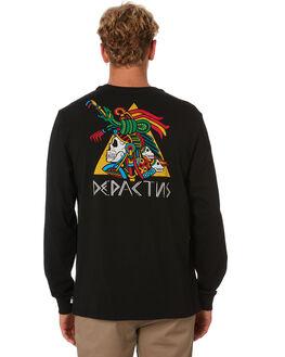 BLACK MENS CLOTHING DEPACTUS TEES - D5202101BLACK