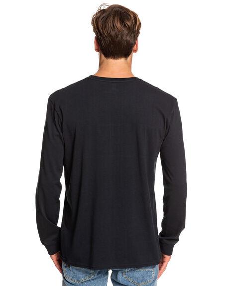 BLACK MENS CLOTHING QUIKSILVER TEES - EQYZT05348-KVJ0