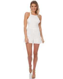 WHITE WOMENS CLOTHING THE HIDDEN WAY PLAYSUITS + OVERALLS - H8174449WHT