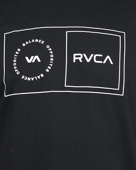 BLACK MENS CLOTHING RVCA TEES - RV-R307049-BLK
